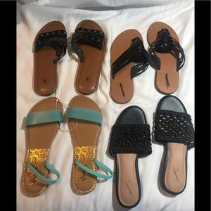 4 Pair of Brand New size 7 Sandals